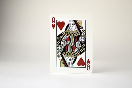Jetsetter red photograph of Queen custom playing card