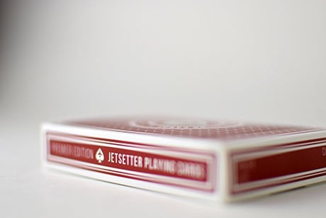 Jetsetter Red photograph of length and width of deck sleeve.