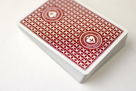 Jetsetter Red custom playing cards photograph of whole deck.