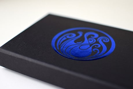 Name of the Wind Chandrian custom playing cards flat laying close up of box art.