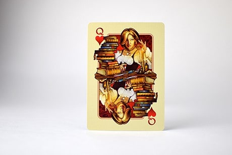 Name of the Wind Chandrian custom playing cards queen