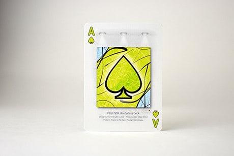 Pollock Borderless custom playing cards Ace art design.