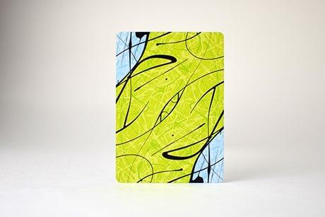 Pollock Borderless custom playing cards single card backside art.