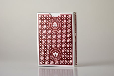 Red Jetsetter backside of custom playing cards photograph.
