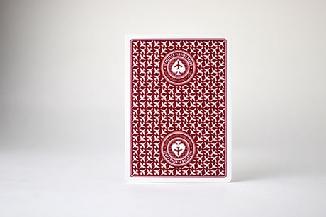Posed Photograph of Red Jetsetter Custom Playing Cards.
