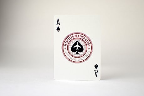 Jetsetter Red Photograph of Ace custom playing card.