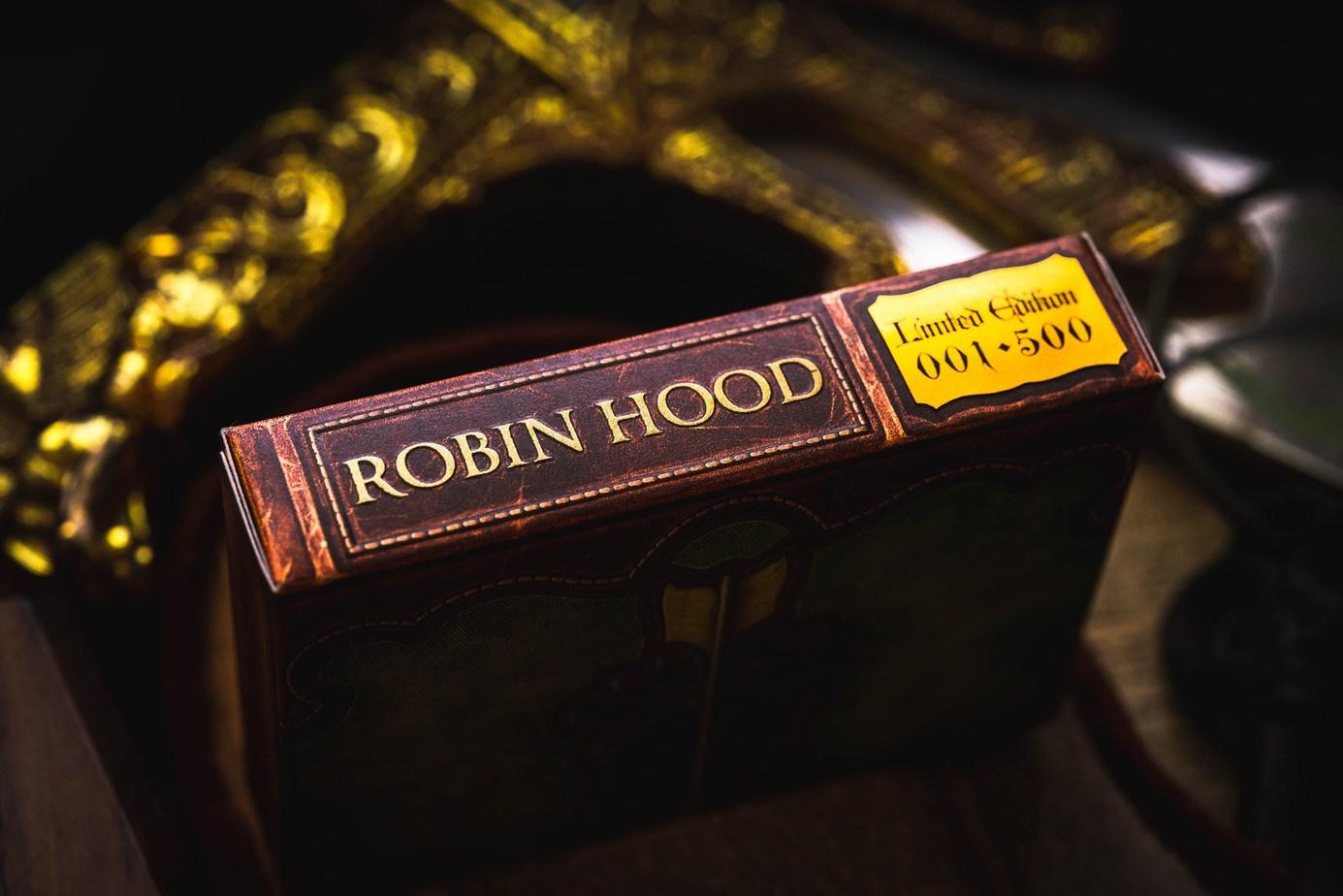 robin hood themed deck of custom playing cards