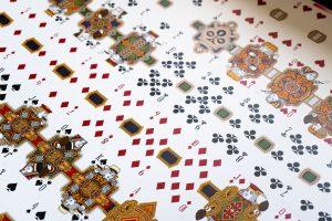 playing card art uncut sheet of playing cards