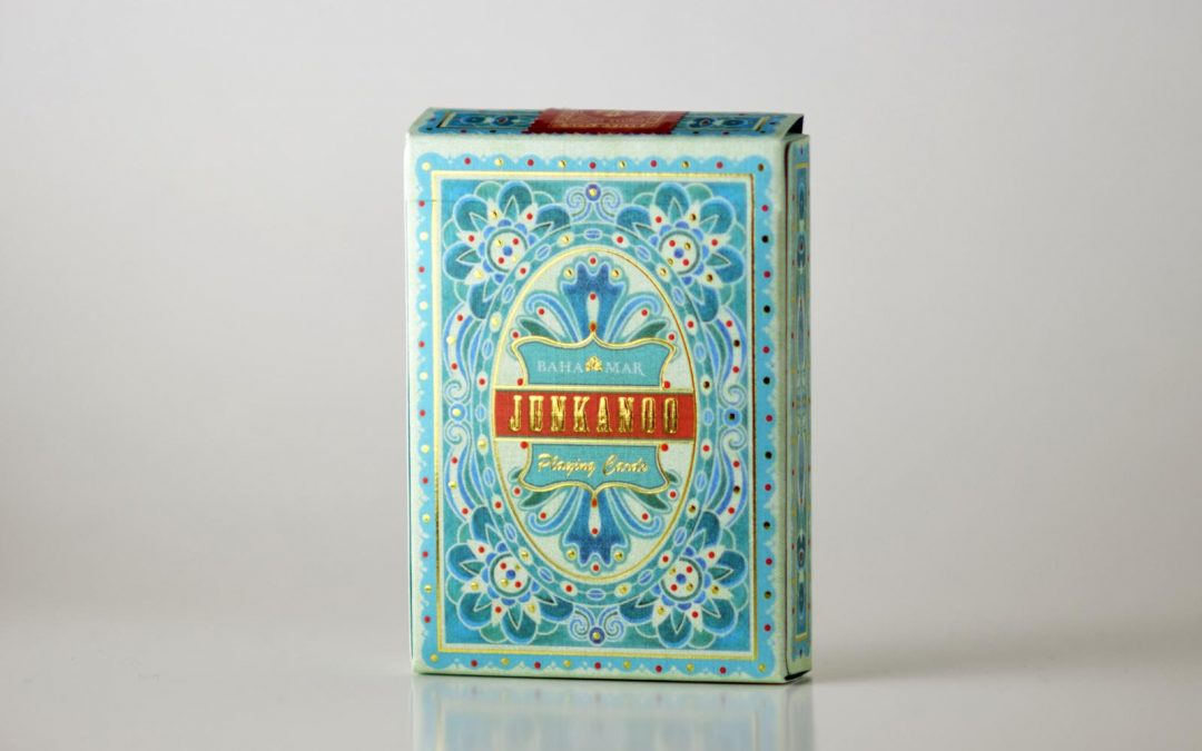 teal playing cards designed for baha mar casino